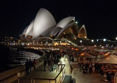 Night life at the Sydney Opera House