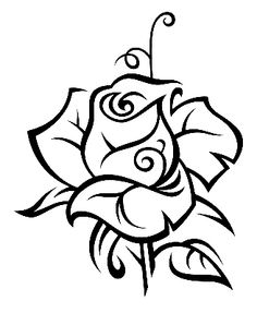 Exquisite Learn To Draw A Realistic Rose Ideas. Creative Learn To Draw A Realistic Rose Ideas. Realistic Drawings, Art Drawings, Adult Coloring Pages, Coloring Books, Wood Burning Patterns, Painted Rocks, Line Art, Silhouettes, Embroidery Patterns