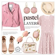 """Pastel Layers ~ Urban Carats 2.2"" by alexandrazeres ❤ liked on Polyvore featuring Rebecca Taylor, H&M, Burberry, Dolce&Gabbana, Eugenia Kim, Ray-Ban, jewelry, urbancarats and pastellayers"