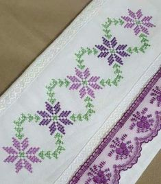 Cross Stitch Letters, Cross Stitch Borders, Crochet Borders, Cross Stitch Rose, Cross Stitch Flowers, Cross Stitch Designs, Cross Stitching, Cross Stitch Pattern Maker, Cross Stitch Needles