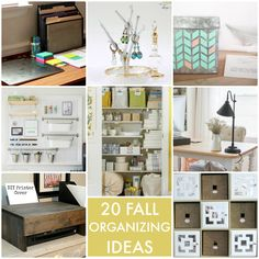 20 Fall Organizing Ideas! So many great ideas to get started on this fall!