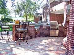 Image result for brick outdoor kitchens