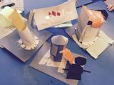 Year 3 looked at architecture in the mountains, specifically Frank Lloyd Wright and also treehouse designs and sustainable buildings. They responded by designing their own treehouses.