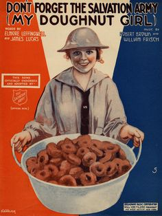 """Don't Forget the Salvation Army (My Doughnut Girl)"" From Brown University's collection of World War I sheet music."