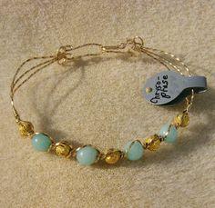 Wire Wrapped Bracelet Exquisite Genuine Light by JewelryArtistry