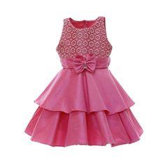 Vestido de Festa Infantil Rosa 600x600