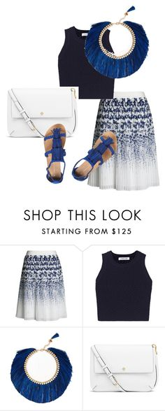 """""""Pedal of Blue"""" by kkelseyporterr on Polyvore featuring Canvas by Lands' End, Elizabeth and James, Rosantica, Tory Burch and Dorothy Perkins"""