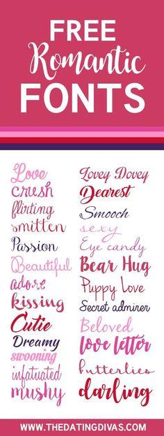 Free Romantic Fonts