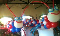 Gusanos de globos para divertirse a la hora del cotillón. Con los colores de tu equipo favorito, será genial! MULTIFIESTA Montevideo-Uruguay