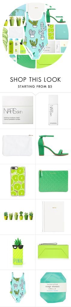 """""""HappySwimSuite."""" by mhurtiz ❤ liked on Polyvore featuring NARS Cosmetics, Casetify, Comme des Garçons, H&M, Victoria's Secret PINK, Henri Bendel, Pelle and Kate Spade"""