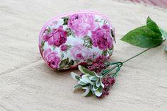 Cotton Coin Purse Floral Pattern Women Zipper by LaLannaThai