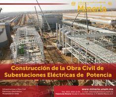 Al finalizar el #curso el participante conocerá las #técnicas, #metodologías, normas, especificaciones y requisitos de calidad relacionados con la obra civil en la #construcción de #SubestacionesEléctricas. Visita www.mineria.unam.mx para más detalles del curso.