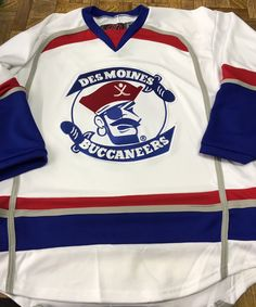 f3fe8cc9f Custom Des Moines Buccaneers Hockey Jerseys. Made in the USA at K1  Sportswear. Lacrosse