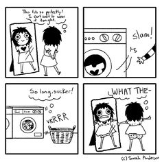Washing... Every single woman in the world will recognise these situations!