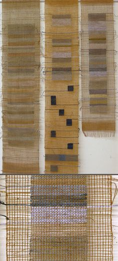 Little gauze and leno studies I've been weaving recently. M.Clifford