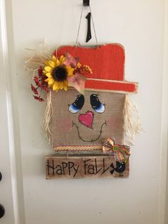 Pallet scarecrow door hanger by TiffinyHDesigns on Etsy