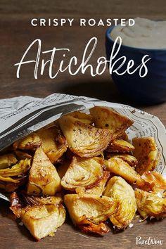 Crispy Roasted Artichokes via @PureWow