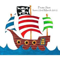 Tiger Lily Personalised Canvas Art Print x (Pirate Ship)