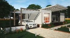 Madrid - 3 Bed 2 Bath Prefab Modular Home - The Madrid is a three bedroom prefab modular home by Nova Deko with two bathrooms and large central outdoor living area is perfect for small families.