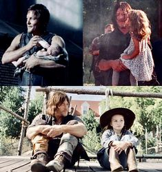Seasons & Daryl and Judith The Walking Ded, Walking Dead Show, Daryl Dixon Walking Dead, Walking Dead Memes, Walking Dead Season, Fear The Walking Dead, Judith Grimes, Carl Grimes, The Walk Dead