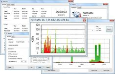 NEW VERSION!!! NetTraffic 1.26.2 (Click image to go to our download page.)     Tool for monitoring network traffic (bandwidth) on selected interfaces.  Features: graph and numeric values in real-time, works with any network connection, taskbar icon showing activity, statistical module, computer work time, distance traveled by cursor (mouse), predictions based on collected data, review of archival data. (click image to read more) #software #networking