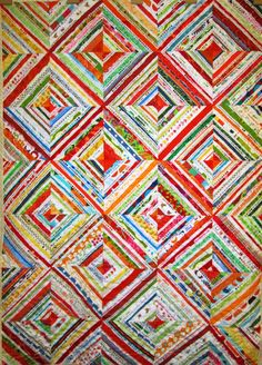 selvage string quilt