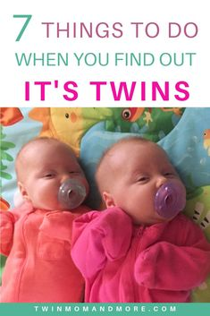 What to do When You Find Out It's Twins: Essential things to do upon finding out you're expecting twins! Prepare for newborn twins as soon as possible with these essential tips. Pregnancy First, Pregnancy Early Breastfeeding Twins, Expecting Twins, Newborn Twins, Pregnancy Twins, Pregnant With Twins, Pregnancy Timeline, Pregnancy Pictures, Pregnancy Belly, Pregnancy Guide