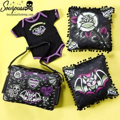 Sourpuss Clothing Creature Diaper Bag #sourpuss #sourpussclothing #kids #baby #babygift #coolstuffforkids #creatureofthenight