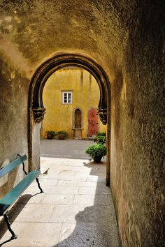 The Hidden Passage of the Pena Palace by tibidabobcn, via Flickr