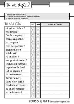 Grammaire | Bonjour FLE !