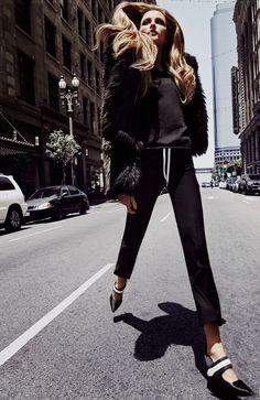 """Walk"" Vlada Roslyakova for Marie Claire Russia August 2015"