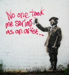 "Banksy & # s. (JvS: ""was not all bad .- Banksy& (JvS: ""war nicht alles schlecht an Hitler. Schliessl… Banksy & # s. (JvS: ""was not all bad about Hitler, after all, he killed Hitler. Banksy Graffiti, Arte Banksy, Graffiti Kunst, Street Art Banksy, Graffiti Artwork, Bansky, Art Mural, Stencil Graffiti, Amazing Street Art"