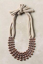 tinsley strung bib necklace