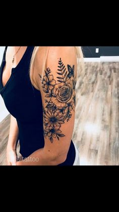 43 gorgeous flower tattoos for women - Tats - tattoos . - 43 beautiful flower tattoos for women – Tats – - Pink Flower Tattoos, Tattoos For Women Flowers, Tattoo Flowers, Tattoo Ideas Flower, Flower Tattoo Women, Arm Tattoo Ideas, Daisies Tattoo, Butterfly With Flowers Tattoo, Flower Tattoo Meanings
