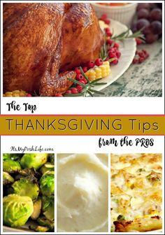 The Top  #THANKSGIVING Tips from the PROS