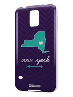 New York Chevron Pattern State Case for Galaxy S5