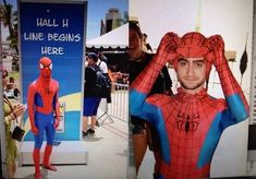 When Dan disguised himself as Spider-Man at Comic Con. | The 21 Best Daniel Radcliffe Moments Of 2014