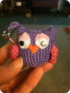 Owl Key Chain by Nicole Andersen from My Mad World