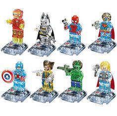 Lego Super Heroes Crystal Edition Transparent