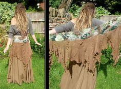 Woodland Moss Eco Wastenot Fairy Pixie Skirt