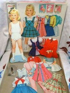 PaperArtsy: 2018 Topic Paper Dolls {Topic Introduction and Challenge} MINE! My Childhood Memories, Sweet Memories, Vintage Paper Dolls, Retro Toys, My Memory, Old Toys, Coloring Books, Origami Templates, Box Templates