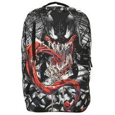 Marvel Venom Teeth Backpack   Hot Topic (£26) ❤ liked on Polyvore featuring bags, backpacks, backpacks bags, venom, flat bags, flat backpack and rucksack bag