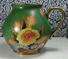 Stunning Rare Art Deco Carlton Ware Jug 'JAGGED BOUQUET' Pattern 3457 S496