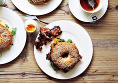 bagels for breakfast   Selbstgemachte Bagels zum Frühstück