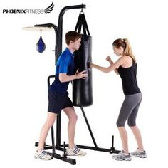 Phoenix Fitness Boxing Stand with Speed Ball and Swivel Bike, Gym, Boxing, Phoenix, Fitness, Sports, Shopping, Bicycle, Hs Sports