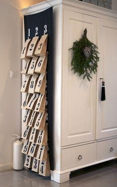 Decorating a Small Living Space for Christmas: DIY Advent Calendar