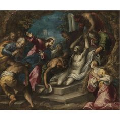 giacomo negretti, c ||| old master paintings ||| sotheby's l08031lot3lyy9en    THE PROPERTY OF A GENTLEMAN  Follower of Giacomo Negretti, called Palma il Giovane  THE RAISING OF LAZARUS