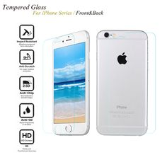 NEW Front and Back Premium Tempered Glass Screen Protector Protective Film for iPhone 7 7 plus 4 4S 5 5G 5S SE 6 6Plus
