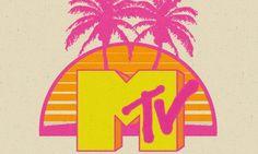 MTV Spring Break Throwback at Republic New Orleans 80s Logo, Logos Retro, 90s Design, Logo Design, Graphic Design, Mtv Music Television, Neon Nail Art, Back In The 90s, Retro Aesthetic