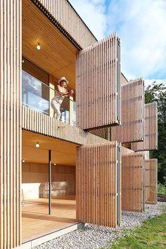 Wood Architecture Johannes Kaufmann - Atelier Dreibholz, Semriach Via (thanks BFC), photos (. Wood Architecture, Contemporary Architecture, Architecture Details, Contemporary Stairs, Contemporary Design, Pavilion Architecture, Contemporary Building, Contemporary Wallpaper, Contemporary Chandelier